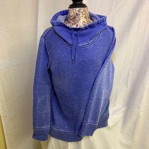Calvin Klein Blue Faded Sweater Tulip Hem Cowl L